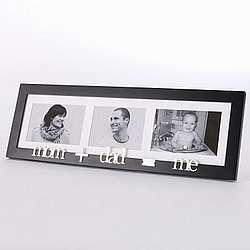 """Mom - Dad - Me"" Family Picture Frame"