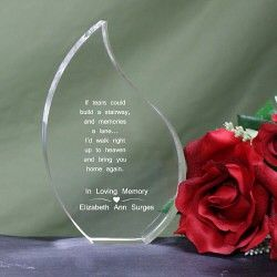 Memorial Tear Keepsake Plaque