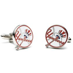 Vintage Logo Yankees Baseball Cufflinks