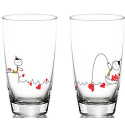 My Heart Is Yours To Catch Drinking Glass Set