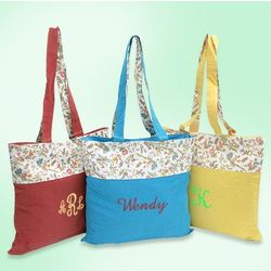 Floral Design Canvas Tote Bag