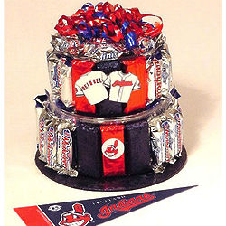 Cleveland Indians Baseball Candy Bar Cake