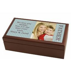 Personalized Photo Valet Box for Dad