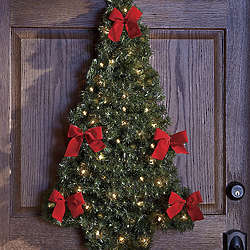 Lighted Door/Wall Christmas Tree