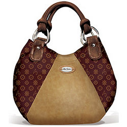 Faux Leather Signature Hobo Handbag