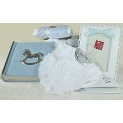 Baby Christening Blue Gift Set