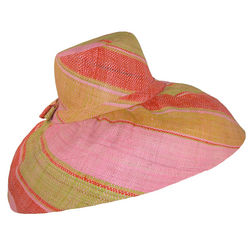 Multicolor Striped Wide Brim Raffia Sun Hat
