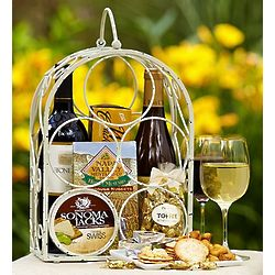 Divine Wine Rack Two Bottle Wine Gift Basket