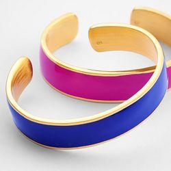 Navy Enamel Cuff Bracelet