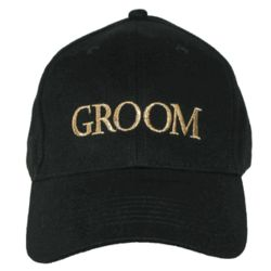 Embroidered Groom Baseball Cap