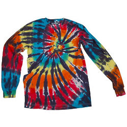 Rainbow Spiral Tie Dye Longsleeve T-Shirt