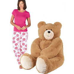 Big Hunka Love Teddy Bear and Small Fuchsia Daisy PJs