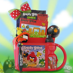Kid's Angry Birds Gift Basket