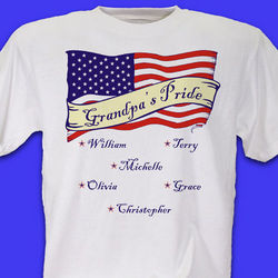 Personalized US Flag American Pride T-Shirt