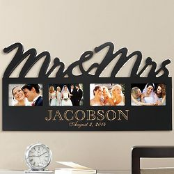 Personalized Mr. and Mrs. Wood Photo Plaque