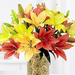 Royal Autumn Lilies Bouquet
