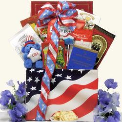 American Pride Patriotic Gourmet Gift Basket