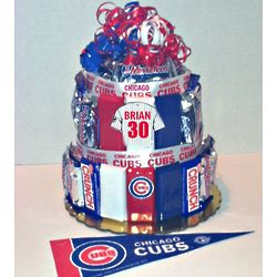Chicago Cubs Baseball Candy Bar Cake