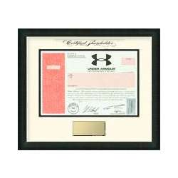 Framed Under Armour Inc. Stock