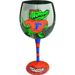 Florida Gators Handpainted Wine Glasses