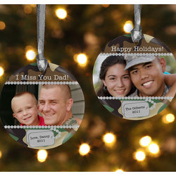 Camo Military Photo Christmas Ornament