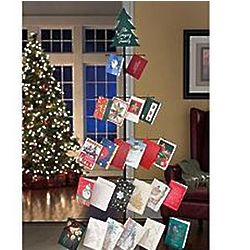 Personalized Metal Christmas Tree Card Holder