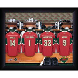 Personalized NHL Minnesota Wild Locker Room Print