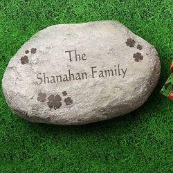 Personalized Large Irish Shamrocks Garden Stepping Stone