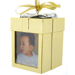 Recordable Gold Christmas Ornament