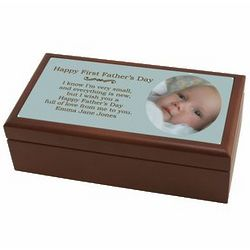 First Father's Day Photo Keepsake Box