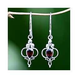 Crimson Tears Garnet Drop Earrings