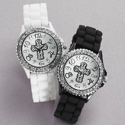 Rhinestone Cross Watch