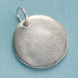 Personalized Silver Fingerprint Charm