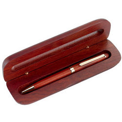 Personalized Classic Rosewood Ballpoint Pen with Case