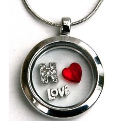 Personalized Love Floating Locket Necklace