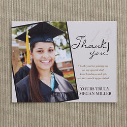 Refined Graduate Personalized Graduation Thank You Cards