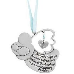 Personalized Guardian Angel Crib Medal