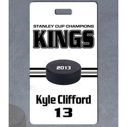 Custom Photo Hockey Bag Tag