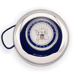 Engraved US Navy Insignia Nickel Plated YoYo