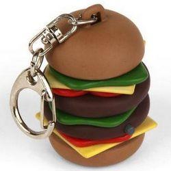 Burping Burger Key Chain