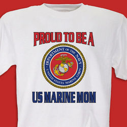 Personalized Proud To Be Military T-Shirt