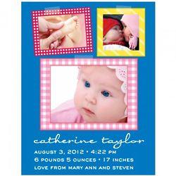 50 Pink Patchwork Quilt Flat Print Baby Announcements