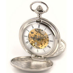 Silver Double Dust Cover Pocket Watch