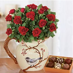 Rose Pitcher and Truffle Gift