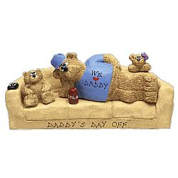 Personalized Happy Daddy Bear Playing with Kids