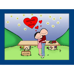 Personalized Starlight Love Couple Cartoon Print