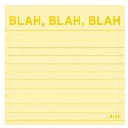 Blah, Blah, Blah Sticky Note