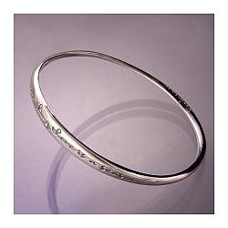 Ecclesiastes 3:1-8 Sterling Silver Bangle