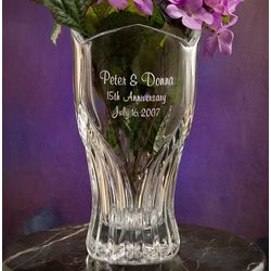 Personalized Crystal Anniversary Vase