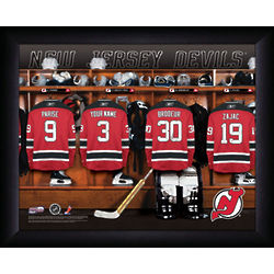 Personalized NHL New Jersey Devils Locker Room Print